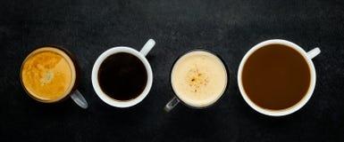 Διαφορετικοί τύποι καφέ Στοκ εικόνες με δικαίωμα ελεύθερης χρήσης