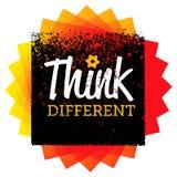 διαφορετικός σκεφτείτ&epsil Δημιουργική έννοια σημαδιών τυπογραφίας βουρτσών διανυσματική ελεύθερη απεικόνιση δικαιώματος
