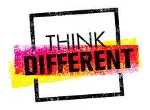 διαφορετικός σκεφτείτ&epsil Δημιουργική έννοια σημαδιών τυπογραφίας βουρτσών διανυσματική απεικόνιση αποθεμάτων