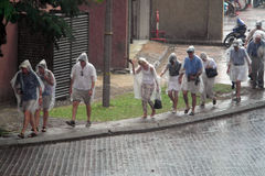 Διαφυγή από τη βροχή Στοκ φωτογραφία με δικαίωμα ελεύθερης χρήσης