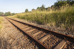 Διαδρομές γραμμών σιδηροδρόμων Στοκ φωτογραφία με δικαίωμα ελεύθερης χρήσης