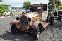 Διαδρομή 66, παλαιό φορτηγό επανάληψης, Truxton, AZ, ΗΠΑ Στοκ φωτογραφία με δικαίωμα ελεύθερης χρήσης