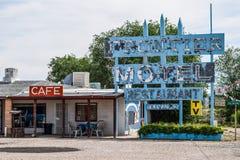 Διαδρομή 66, συνοριακό μοτέλ σε Truxton, Αριζόνα, ΗΠΑ Στοκ εικόνες με δικαίωμα ελεύθερης χρήσης