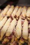 Ιβηρικά σάντουιτς panini ζαμπόν Στοκ Εικόνες