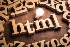 Ιδέα εκπαίδευσης HTML στοκ εικόνα με δικαίωμα ελεύθερης χρήσης