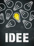 Ιδέα εμβλημάτων - γερμανικά: Idee στοκ εικόνες
