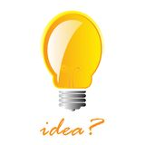 ιδέα lightbulb Στοκ εικόνα με δικαίωμα ελεύθερης χρήσης
