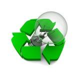 Ιδέες ανακύκλωσης Στοκ εικόνα με δικαίωμα ελεύθερης χρήσης