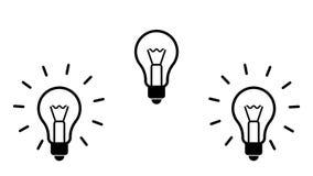 Ιδέες σημαδιών λαμπών φωτός με την έκρηξη ελεύθερη απεικόνιση δικαιώματος