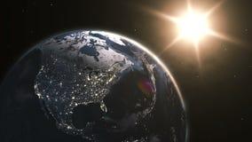Ιδιαίτερα λεπτομερής τρισδιάστατος δίνει τη χρησιμοποίηση των δορυφορικών καλολογικών στοιχείων ελεύθερη απεικόνιση δικαιώματος