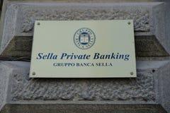 Ιδιωτικές τραπεζικές εργασίες Sella Στοκ φωτογραφίες με δικαίωμα ελεύθερης χρήσης