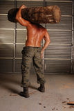 ιδρωμένος woodsman στοκ φωτογραφία με δικαίωμα ελεύθερης χρήσης