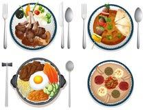 διεθνές ρύζι τροφίμων κοτόπουλου Στοκ Εικόνες