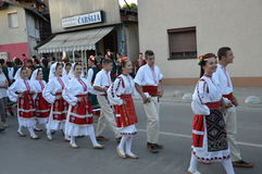 10 διεθνές φεστιβάλ Lukavac 2016 λαογραφίας Στοκ Φωτογραφίες