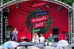 διεθνές usadba τζαζ φεστιβάλ Στοκ εικόνα με δικαίωμα ελεύθερης χρήσης
