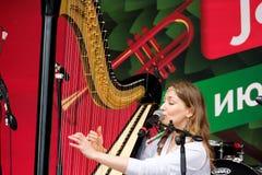 διεθνές usadba τζαζ φεστιβάλ Στοκ Εικόνα