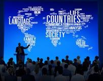 Διεθνής έννοια εδαφών κοινωνίας έθνους χωρών Στοκ Εικόνες