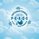διεθνής ειρήνη σφαιρών περιστεριών ημέρας Στοκ Φωτογραφία