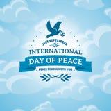 διεθνής ειρήνη σφαιρών περιστεριών ημέρας Στοκ εικόνα με δικαίωμα ελεύθερης χρήσης