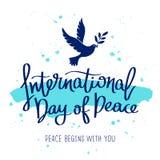 διεθνής ειρήνη σφαιρών περιστεριών ημέρας Στοκ Εικόνα