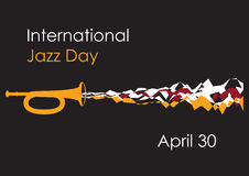Διεθνής ημέρα τζαζ Στοκ Εικόνα
