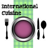 Διεθνής κουζίνα Στοκ φωτογραφίες με δικαίωμα ελεύθερης χρήσης