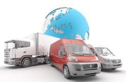 διεθνής φορτίου που απομονώνεται Στοκ Εικόνες