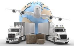 διεθνής φορτίου που απομονώνεται Στοκ Εικόνα