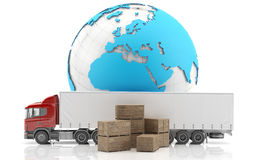 διεθνής φορτίου που απομονώνεται truckl Στοκ Εικόνες