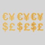 διεθνή σύμβολα χρημάτων Στοκ Φωτογραφίες