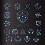 Ιερές μορφές γεωμετρίας διανυσματική απεικόνιση