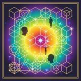 Ιερή γεωμετρία Στοκ εικόνα με δικαίωμα ελεύθερης χρήσης