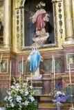 Ιερή εβδομάδα στην Ισπανία, τις εικόνες των virgins και τις αντιπροσωπεύσεις Chr στοκ εικόνες
