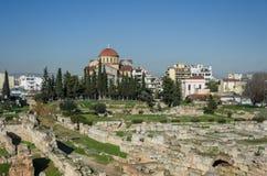 Ιερή εκκλησία τριάδας κοντά στο νεκροταφείο Kerameikos στην Αθήνα Στοκ φωτογραφίες με δικαίωμα ελεύθερης χρήσης