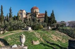 Ιερή εκκλησία τριάδας κοντά στο νεκροταφείο Kerameikos στην Αθήνα, Gree Στοκ Φωτογραφία
