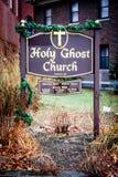 Ιερή εκκλησία φαντασμάτων, πρόνοια, Ρόουντ Άιλαντ στοκ φωτογραφίες με δικαίωμα ελεύθερης χρήσης