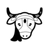 Ιερή ζωική αγελάδα Ινδία πορτρέτου Στοκ Φωτογραφίες