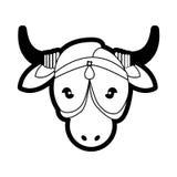Ιερή ζωική διακόσμηση της Ινδίας αγελάδων πορτρέτου Στοκ φωτογραφία με δικαίωμα ελεύθερης χρήσης