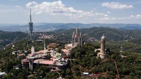 Ιερή καρδιά ναών του Ιησού σε Tibidabo στη Βαρκελώνη, Ισπανία στοκ εικόνα