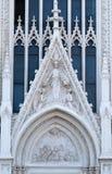Ιερή καρδιά του Ιησού μεταξύ δύο αγγέλων επάνω και των ψυχών του καθαρτηρίου κάτω Στοκ φωτογραφία με δικαίωμα ελεύθερης χρήσης