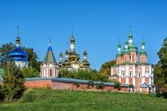 Ιερή μονή καλογραιών Hustynskyi τριάδας, μονή, μοναστήρι, θρησκευτικό β Στοκ Φωτογραφίες
