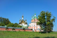 Ιερή μονή καλογραιών Hustynskyi τριάδας, μονή, μοναστήρι, θρησκευτικό β Στοκ Εικόνες
