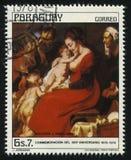 Ιερή οικογένεια από Jordaens Στοκ φωτογραφία με δικαίωμα ελεύθερης χρήσης
