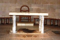 Ιερή πέτρα σε Tabgha Στοκ φωτογραφία με δικαίωμα ελεύθερης χρήσης