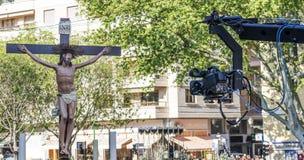 Ιερή πομπή εβδομάδας στο palma de Μαγιόρκα Στοκ Εικόνα