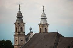 Ιερή Ρωμαιοκαθολική εκκλησία Sumuleu Ρουμανία τριάδας στοκ εικόνες
