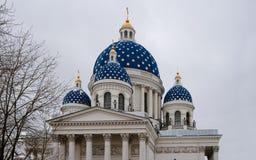 Ιεροί θόλοι καθεδρικών ναών τριάδας σε Άγιο Πετρούπολη Ρωσία Στοκ φωτογραφία με δικαίωμα ελεύθερης χρήσης