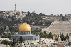 Ιερουσαλήμ, Ισραήλ - 16 Δεκεμβρίου 2016: Τα DOM του βράχου Στοκ φωτογραφία με δικαίωμα ελεύθερης χρήσης