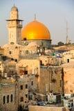 Ιερουσαλήμ, χρυσός θόλος του βράχου από μια διαφορετική γωνία Στοκ Φωτογραφία