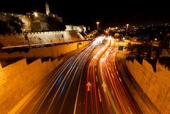 Ιερουσαλήμ, Nightshot Στοκ φωτογραφία με δικαίωμα ελεύθερης χρήσης